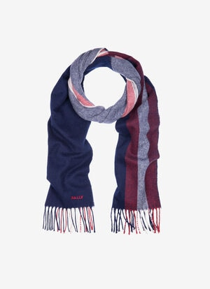 BLUE MIX WOOL Scarves - Bally