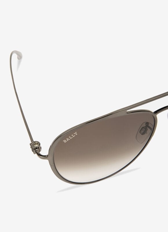 METALLIC METAL Sunglasses - Bally