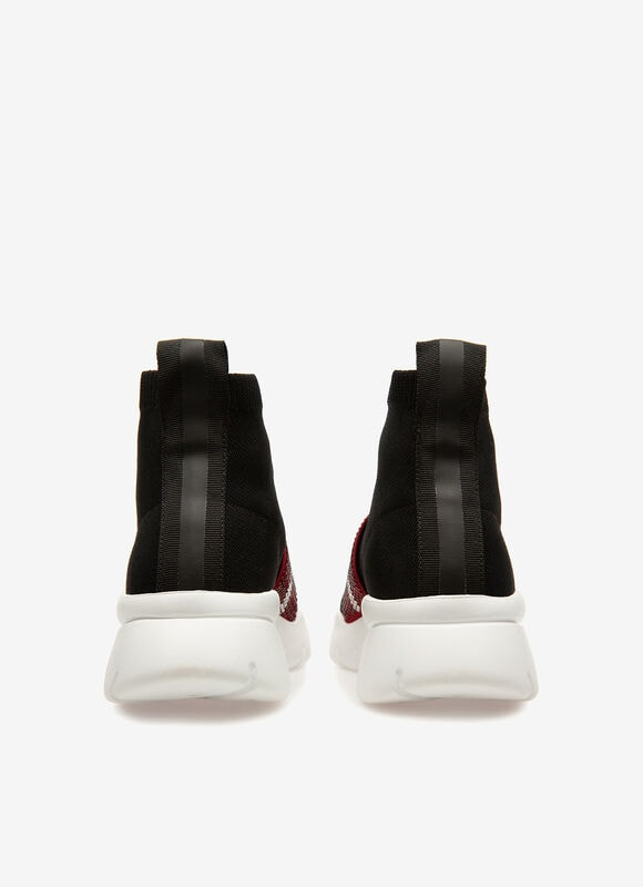 BLACK MIX POLYESTER shoes - Bally