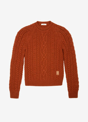 BROWN WOOL Knitwear - Bally