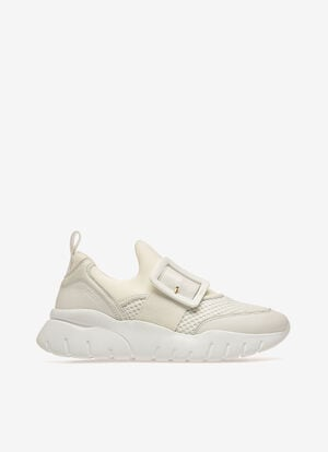 WHITE POLYESTER Sneakers - Bally