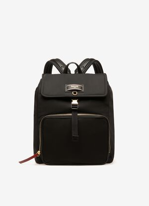 BLACK NYLON Backpacks - Bally